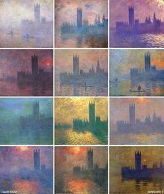 Claude Monet, il Parlamento di Londra (serie)