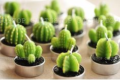 Super Cute Cactus-shaped Specialty Candles great gift por cactustop