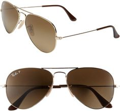 55efb6819e6 Ray-Ban Brown Aviator Sunglasses Polarized Aviator Sunglasses