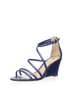 Schutz Women's Carolah Strappy Wedge Sandal at MYHABIT #Blue #Breezy $89
