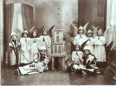 Vintage photo of children in costume