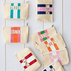 Mark and Graham offers personalized purses for everyday use. Monogram your purse and wallet to stand out among your coworkers. Monogram Painting, Kids Lunch Bags, Free Monogram, Bag Toss, Hand Painted Canvas, Business Gifts, Traveling With Baby, Pet Gifts, Toiletry Bag