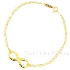 ティファニー ブレスレット インフィニティ 1モチーフ K18YG イエローゴールド Tiffany&Co. ジュエリー ブレス