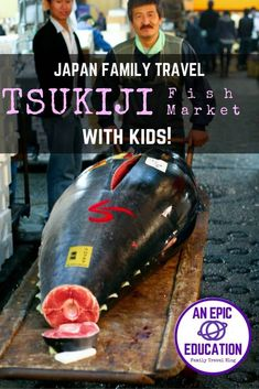 How to Visit the Tsukiji Fish Market with Kids: Japan Family Travel, Tuna auction, Japan travel, Tokyo travel, family travel, sushi, sashimi, food travel,