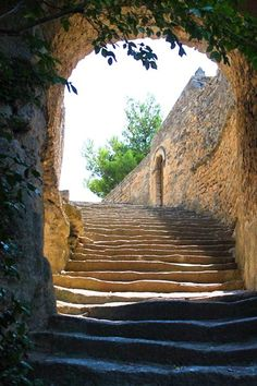 One of many flights of steps in Bonnieux ~ Provence