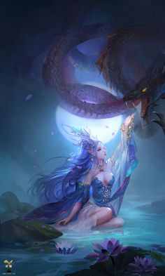 Dragon Moon by GjschoolArt