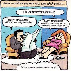Vampirle Evlilik Karikatürü Özer Aydoğan   Karikatürname Eminem, Caricature, Peanuts Comics, Sleep, Drawings, Fun Stuff, Humor, Fun Things, Caricatures