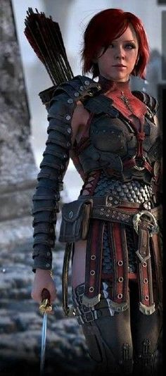 Leliana of The Urn of Sacred Ashes (Dragon Age) trailer. Doesn't she look a bit like Lindsay Sterling? Warrior Girl, Warrior Princess, Warrior Women, Fantasy Characters, Female Characters, Poses, Illustration Fantasy, Character Inspiration, Character Design