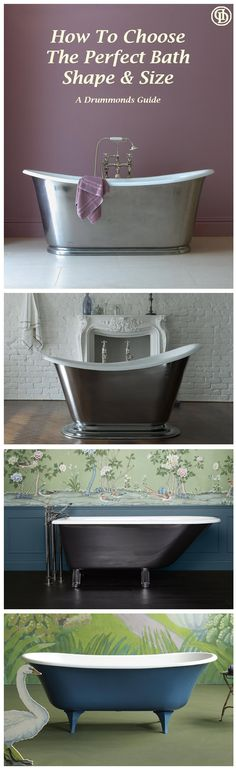 Can't choose between a bateau style or slipper bathtub? Not really sure what the difference is? Check out our 'Bath Style Guide' and bathe in the knowledge you're making the right decision when choosing your tub!