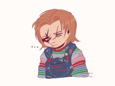 i'm in love with the landscape Chucky Horror Movie, Horror Movies Funny, Scary Movies, Child's Play Movie, Scary Movie Characters, Childs Play Chucky, Pennywise The Clown, Michael Myers, Cartoon Shows