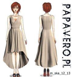 high low dress pattern