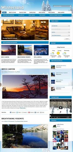 Gorilla Themes – Winterland #WordPress Theme