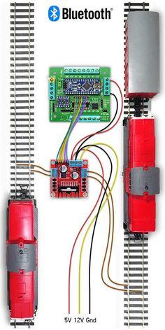Use Arduino to create railway layout