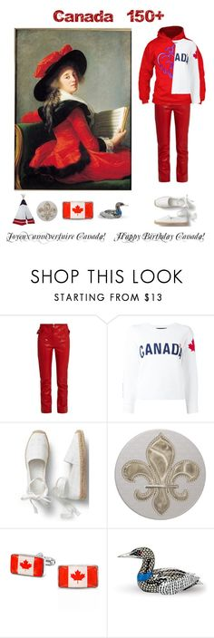 """July 1st 2017 - It's Canada Day!"" by belldraw ❤ liked on Polyvore featuring Isabel Marant, Dsquared2, Bling Jewelry, Herend, country and canadaday"