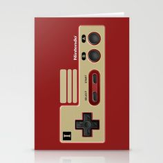 Classic retro Red Gold game controller Stationery Cards #stationerycards #cards #Photography #videogames #Digitalmanipulation #Macro #Vintage #Nintendo #Sega #Dreamcast #Classic #Retro #8bit #mario #brothers #digital #cool