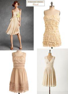 blush peach bridesmaids dresses...subtle color