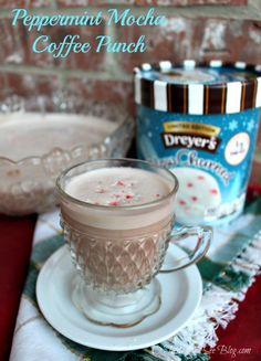 Peppermint mocha coffee punch #shop