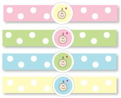 Free printable baby shower napkin rings! #babyshowers