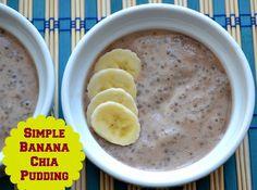 Strawberry banana chia pudding (used 1 banana + 3 strawberries, 3/4c homemade coconut milk + 2T whole milk powder)