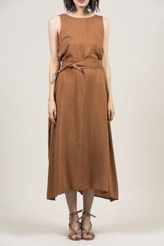 Palma Dress, Almond by Jesse Kamm @ Kick Pleat - 3