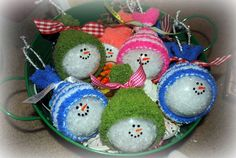 cute little snowmen ornaments