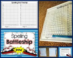 Sparkles, Smiles, and Successful Students: Spelling Battleship FREEBIE
