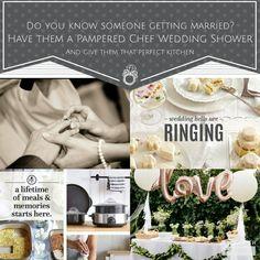 Host them a Pampered Chef wedding shower Pampered Chef Catalog, Wedding Bells, Getting Married, Bridal Shower, Goodies, Party, Wedding Registries, Shower Ideas, Wedding Ideas