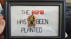 My best friend from high school and I stay in touch primarily through video games. Counterstrike is one of our favorites to play together so i made him a CSGO cross stitch for Christmas. Thought you guys might like it.