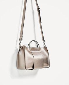 ZARA - WOMAN - MINI TOTE BAG WITH METALLIC HANDLES