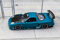 Honda NSX with an awesome lovely color!