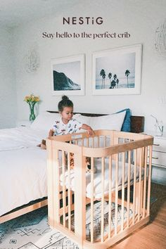 A crib that grows and changes. That goes up and down, and in and out. Baby Number 2, Best Crib, Montessori Baby, Baby Room Decor, Humble Abode, Baby Fever, New Moms, Kids Bedroom, Guest Room