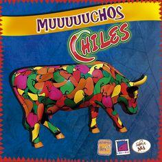 Algunas vacas dan leche picante y potente... Pieza expuesta en la Ciudad de México dentro del CowParade www.lapanzaesprimero.com