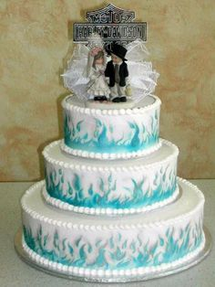Harley Davidson Wedding Cakes   Nadines - Wedding Cakes: *Round cakes are the most traditional, in ...