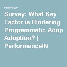 Survey: What Key Factor is Hindering Programmatic Adoption? Factors, Adoption, Key, Education, Foster Care Adoption, Unique Key, Keys, Learning, Teaching