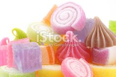 Group of Colorful Thai Dessert isolated Royalty Free Stock Photo