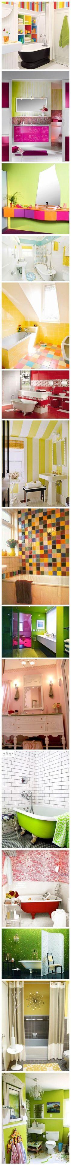 bright bathroom colors