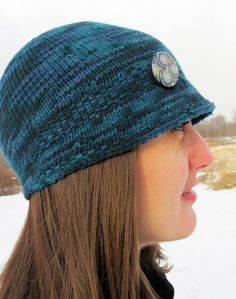 Free pattern from Knitty - this one is knit from top down with short row…