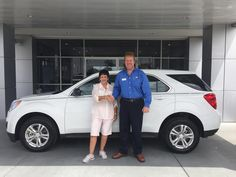 Why is Patricia Turner of Pascagoula smiling in this picture? It's because she just became the owner of this brand new 2015 Chevrolet Equinox! The man pictured with her is Jeff Strom, her Sales Consultant. Thank you Patricia and enjoy your new SUV! Butch Oustalet Chevrolet Cadillac