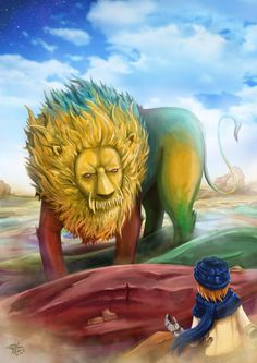 "Illustrated for story book "" The Neverending Story "" done in hours Multicolored Desert"