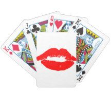 Kiss Lips Red Lipstick Love Passion Valentine Bicycle Playing Cards