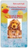www.schutzengelein.de SCHNUFFI Hundeshampoo, natürlich ohne Konservierungsstoffe. Damit das Fell Ihres Hundes sauber, glänzend und duftig bleibt. Baden Sie Ihren Hund nur wenn er wirklich schmutzig ist. SCHNUFFI Hundeshampoo ist extrem mild. Sie benötigen nur einen Meßbecher voll für eine Wannenfüllung.