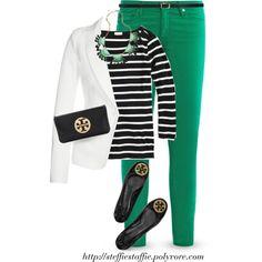 White blazer, Black Stripes
