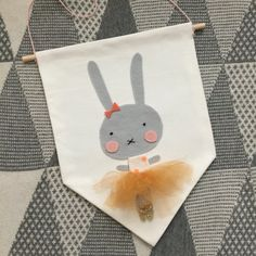 Cute bunny ballerina wall banner wall flag by Hangingwithlucy Felt Diy, Felt Crafts, Crafts To Make, Arts And Crafts, Diy Crafts, Felt Banner, Bunting Banner, Buntings, Handmade Ornaments