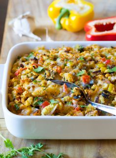 Simple Southwest Cornbread Stuffing #holiday #thanksgiving #mexican