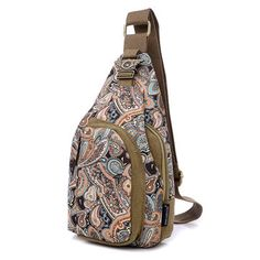 012c35ab09f1 Canvas Chest Pack With Floral   Symbol Design