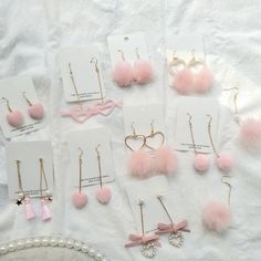 Pink sweet earring SE10955 Use coupon code #cutekawaii for 10% off