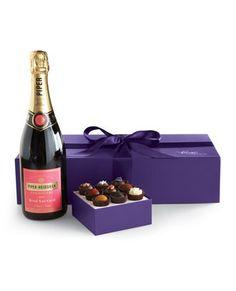 Piper Heidsieck Brut Rose Champagne & Box of (9) Exotic Truffles (RH)