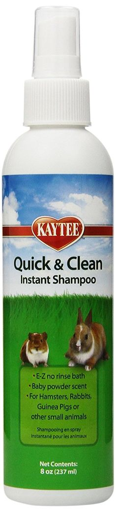 Kaytee Quick and Clean Small Animal Shampoo Spray > Awesome dog product. Click the image : Dog Grooming