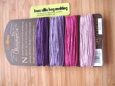 Hemp Cord Card - Berry Bar Collection - Pinks and Purples - 20lb / 1mm cord Hemptique Four Pack Premium Quality Hemp Cord by LoveEllieBagMaking Find it now at http://ift.tt/29DwjhK!