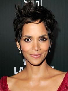 """HALLE BERRY Berry's piecey cut is edgy and feminine. To recreate it, """"ask for long, chunky layers at the top and more tailored pieces on the sides and in back,"""" says hairstylist Anh Co Tran. """"Be careful not to overtexturize thick hair, because it will become wispy and impossible to style. Chunky layers keep the body and movement."""""""